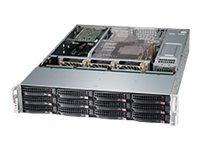 Supermicro SuperChassis 826BE26 2U RM (2x)Intel AMD 12x3.5 HS Bays 7xExpansion Slots 3xFans 2x1280W RPS, CSE-826BE26-R1K28WB, 15274320, Cases - Systems/Servers