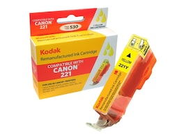 Kodak 2949B001 Yellow Ink Cartridge for Canon, CLI-221Y-KD, 31286371, Ink Cartridges & Ink Refill Kits