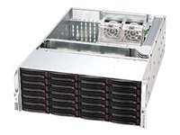 Supermicro Chassis, 4U, 7 Slots, 24xSAS HS Bays, Black, CSE-846E1-R710B, 9837771, Cases - Systems/Servers