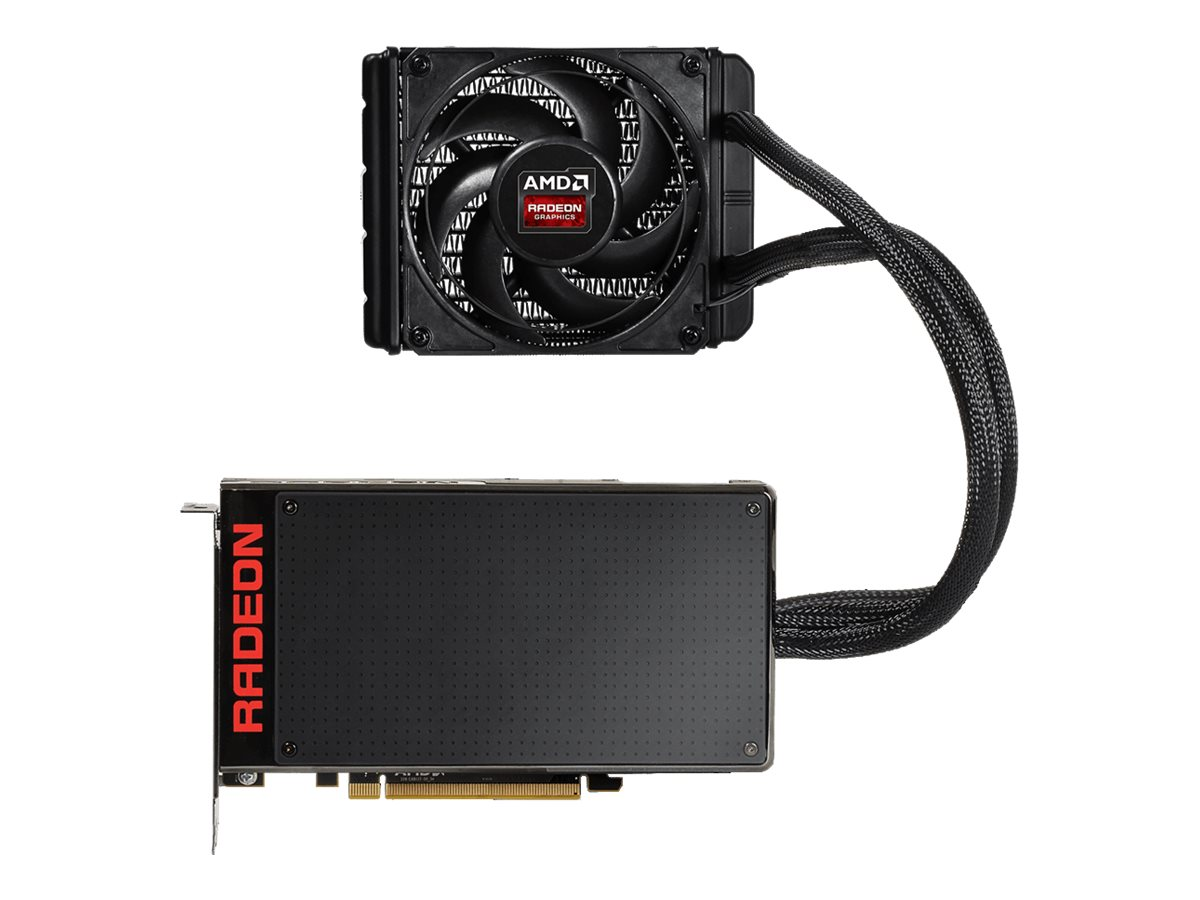 Gigabyte Tech Radeon R9 Fury X PCIe Graphics card, 4GB VRAM, GV-R9FURYX-4GD-B