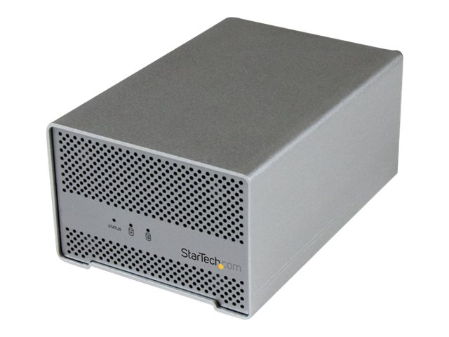 StarTech.com Thunderbolt Dual Bay 2.5 Hard Drive Enclosure w  Thunderbolt Cable & Fan, S252SMTB3, 16850827, Hard Drive Enclosures - Multiple