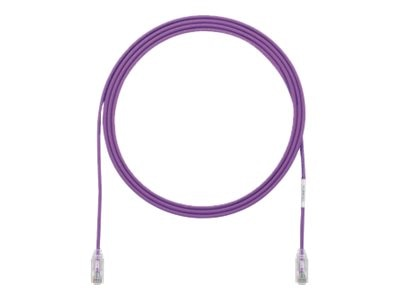 Panduit Cat6e 28AWG UTP CM LSZH Copper Patch Cable, Violet, 13ft