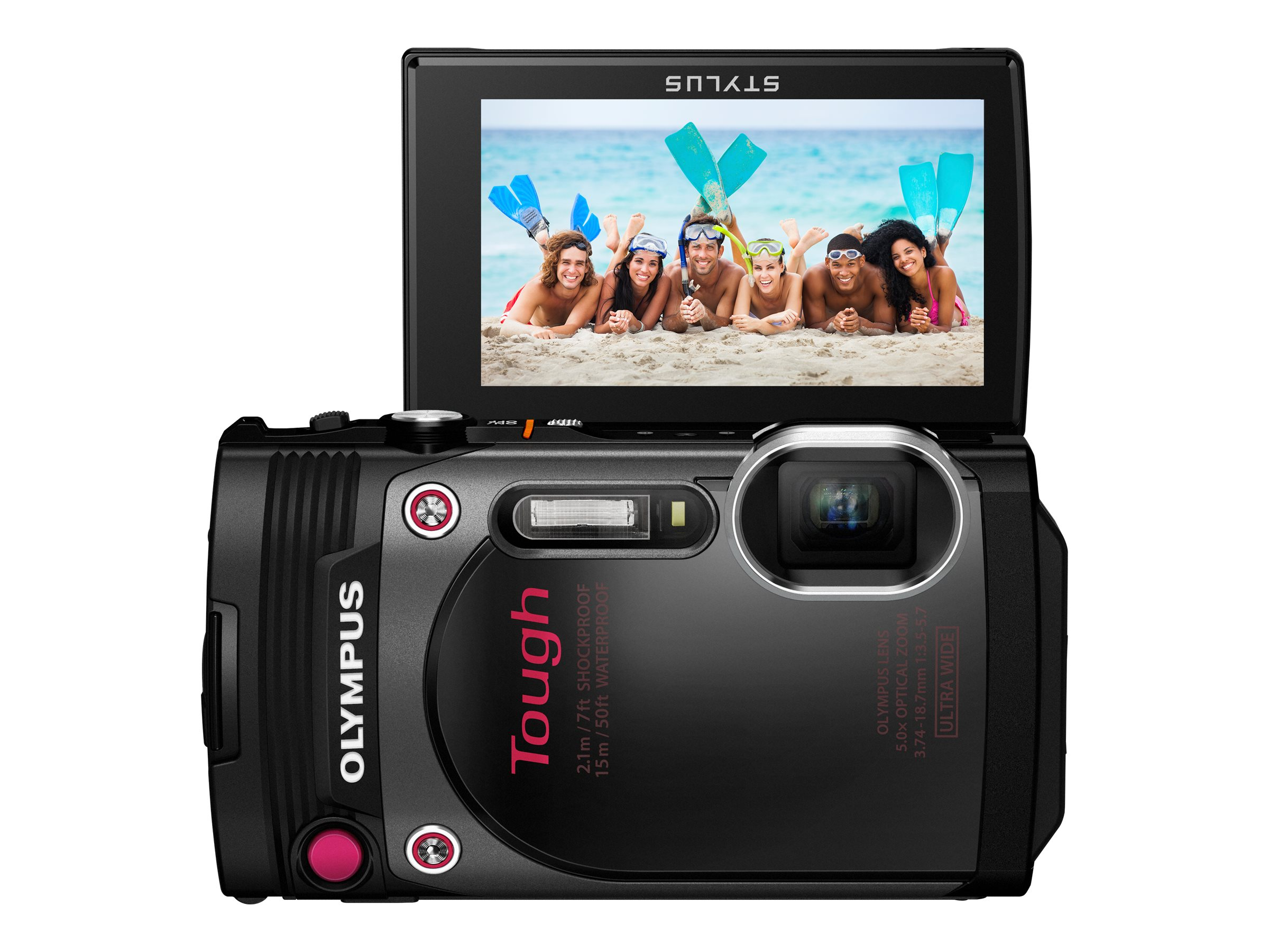 Olympus Stylus Tough TG-870 Digital Camera, Black, V104200BU000, 31188712, Cameras - Digital - Point & Shoot