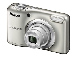 Nikon Coolpix A10 Camera, 16.1MP, 5x Zoom, Silver, 26518, 33672794, Cameras - Digital