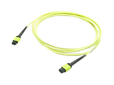ACP-EP OS1 Fiber Patch Cable, MPO-MPO, 9 125, Single-Mode, Duplex, Yellow, 5m, ADD-MPOMPO-5M9SMS