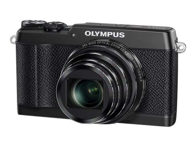 Olympus Stylus SH-2 Digital Camera, 16MP, 24x Zoom, Black, V107090BU000, 21406229, Cameras - Digital - Point & Shoot