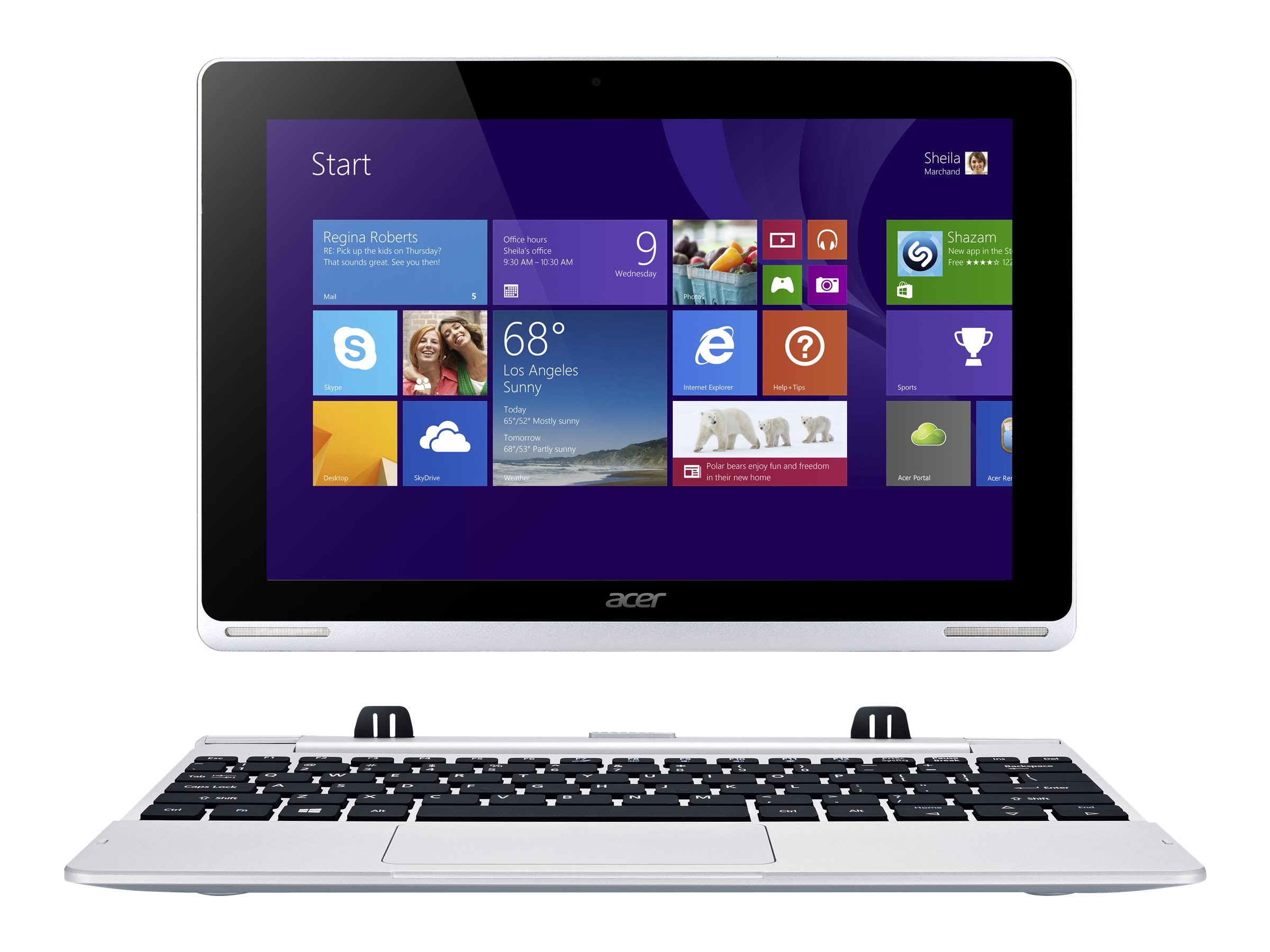 Acer Aspire Switch 10 SW5-012-18L0 1.33GHz processor Windows 10 Pro, NT.L6LAA.003