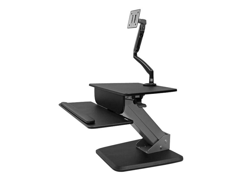 StarTech.com Sit-to-stand Workstation with Articulating Monitor Arm, Black, BNDSTSSLIM, 31852257, Stands & Mounts - AV