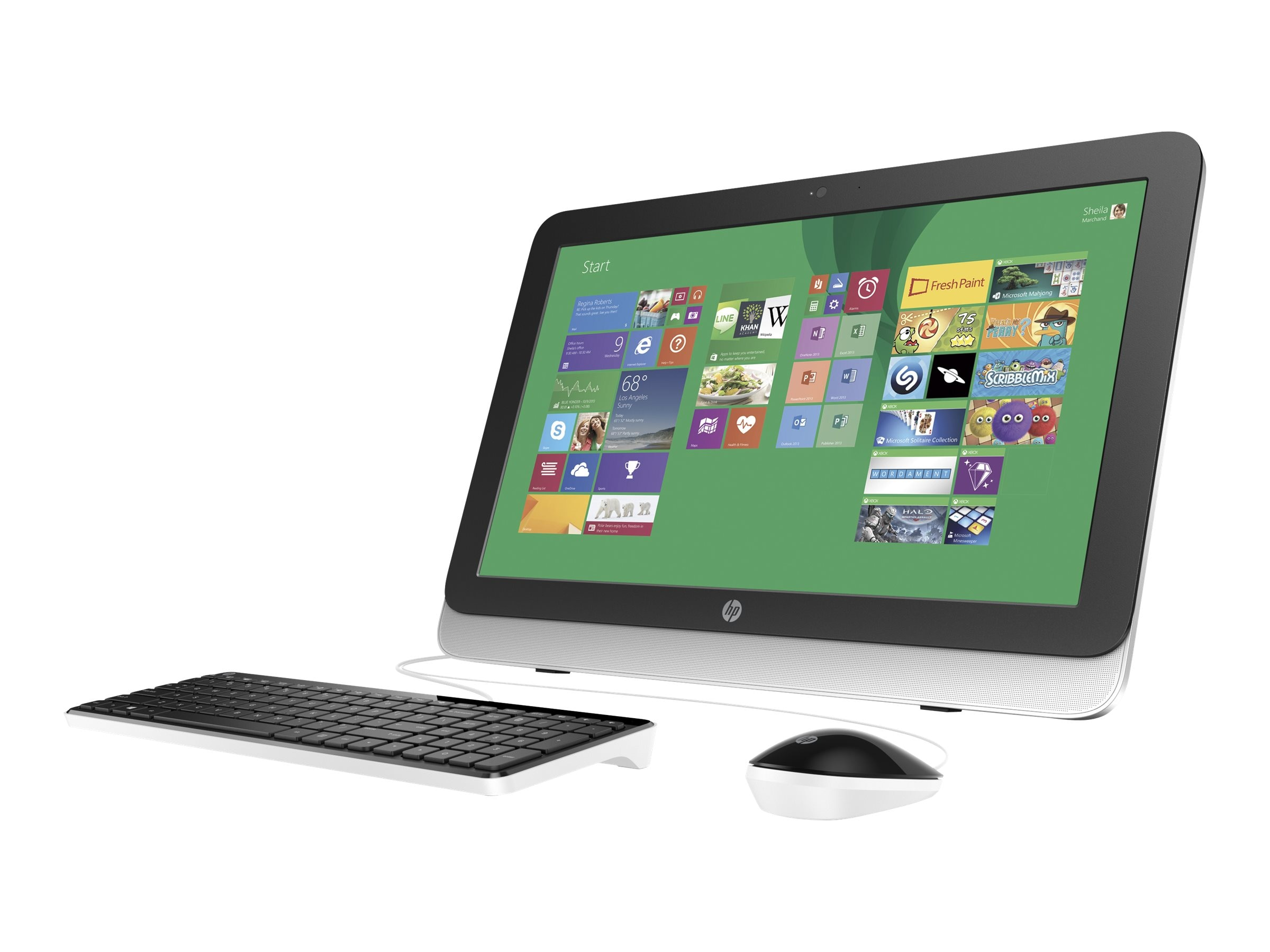 HP 22-3020 AIO AMD A6-6310 4GB 500GB DVDRW WL 21.5 W8.1, L9K80AA#ABA, 23619050, Desktops - All-in-One