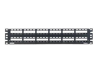 Panduit Mini-Com 48-Port All Metal Modular Patch Panel w  Strain Relief Bar, CP48WSBLY, 7871651, Patch Panels