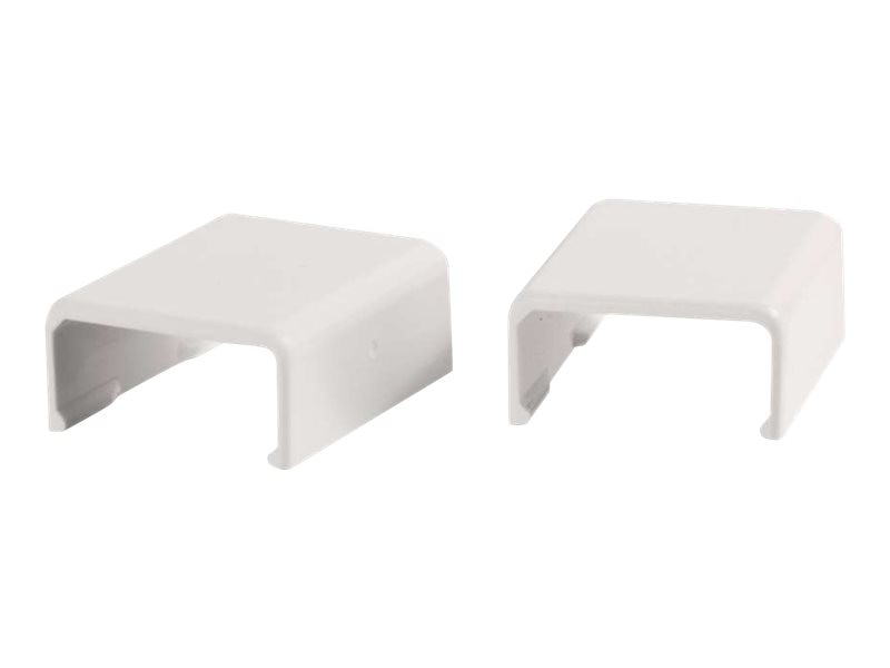 C2G Wiremold Uniduct 2700 Cover Clip, White, 2-Pack