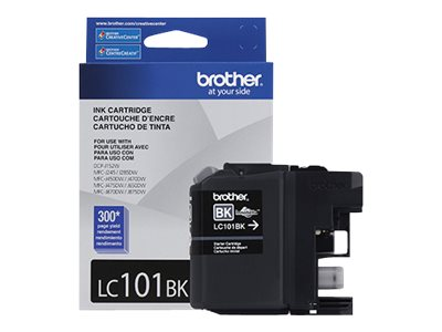 Brother Black Innobella Standard Yield Ink Cartridge for MFC-J285DW, MFC-J470DW & MFC-J870DW, LC101BK, 15920820, Ink Cartridges & Ink Refill Kits