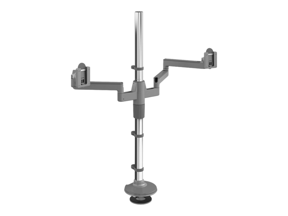 Humanscale MFLEX M2 Monitor Arm with Dual Display Support, (2) 12 Straight Link Arm, MF22S99B30