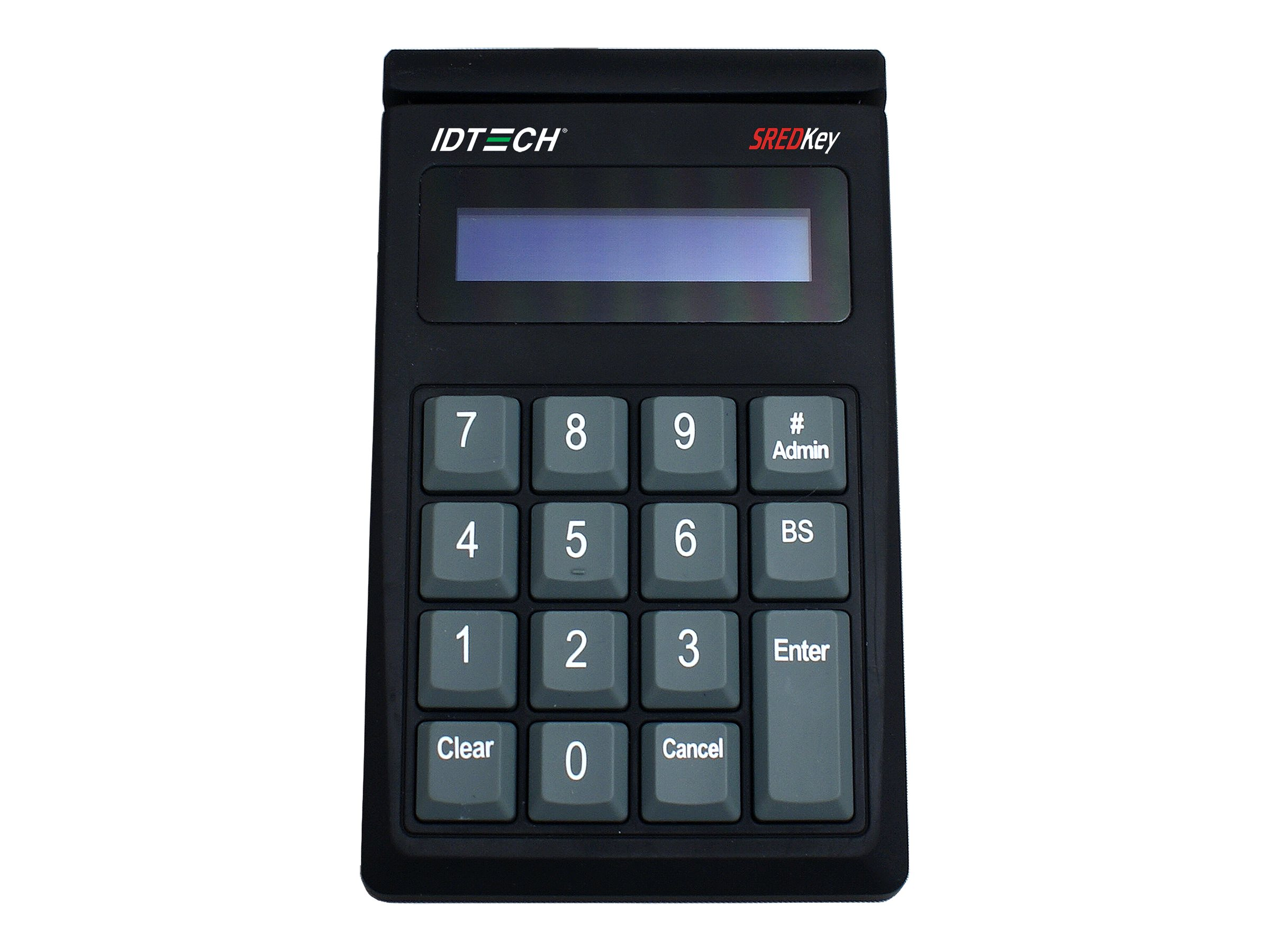 ID Tech SREDKey Keypad w  MSR Track 3, AES Encryption, Enhanced Format, USB Keyboard, Black, IDSK-534833AEB