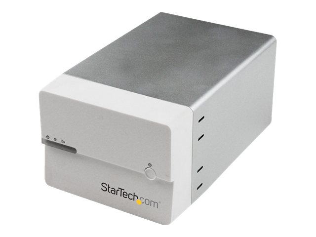 "StarTech.com USB 3.0 eSATA Dual SATA 6Gb s 3.5"" Hard Drive External RAID Enclosure w  UASP & Fan – White, S3520WU33ER, 16583992, Hard Drive Enclosures - Multiple"