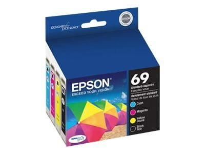 Epson DURABrite Ultra Ink Cartridge Combo Pack for Stylus CX5000, CX6000, CX7000F, CX7400, CX7450, CX8400, T069120-BCS