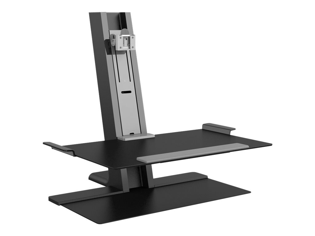 Humanscale QuickStand Heavy Mount with Large Platform, FreeStanding Base, Black