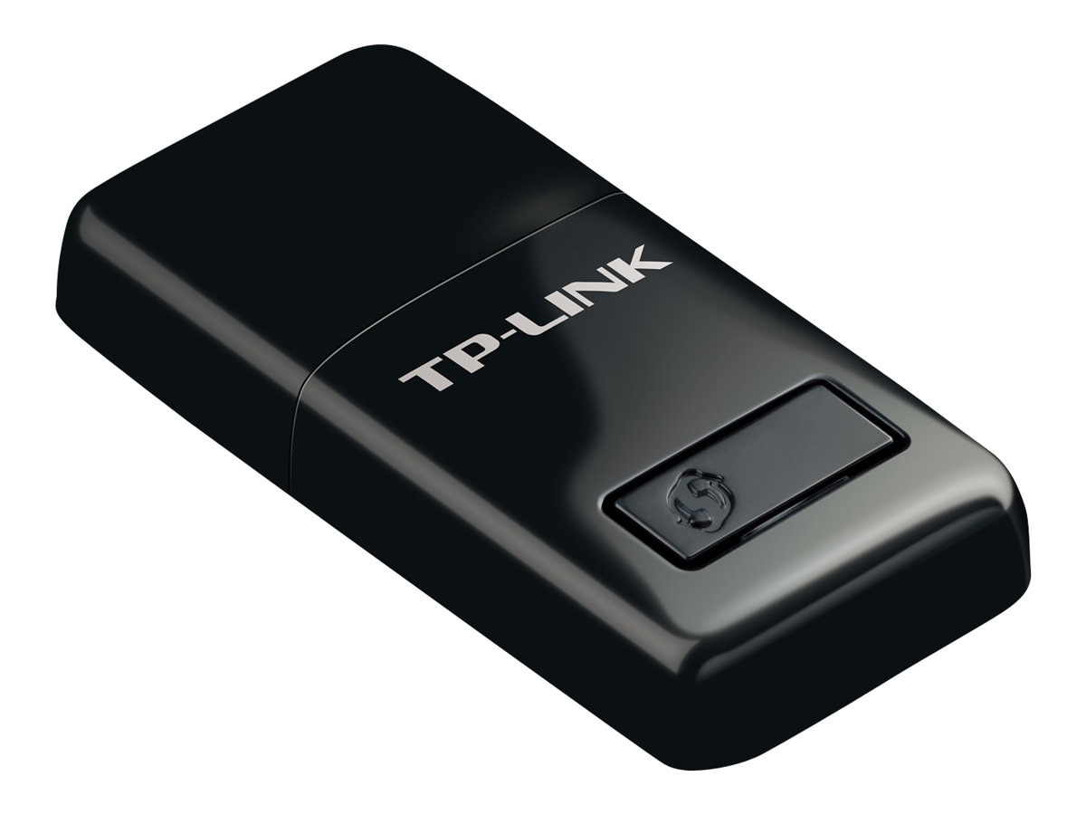 TP-LINK 300Mbps Wireless Mini USB Adapter, Wifi Sharing Mode, One-Button Setup, Windows and Mac compatible, TL-WN823N