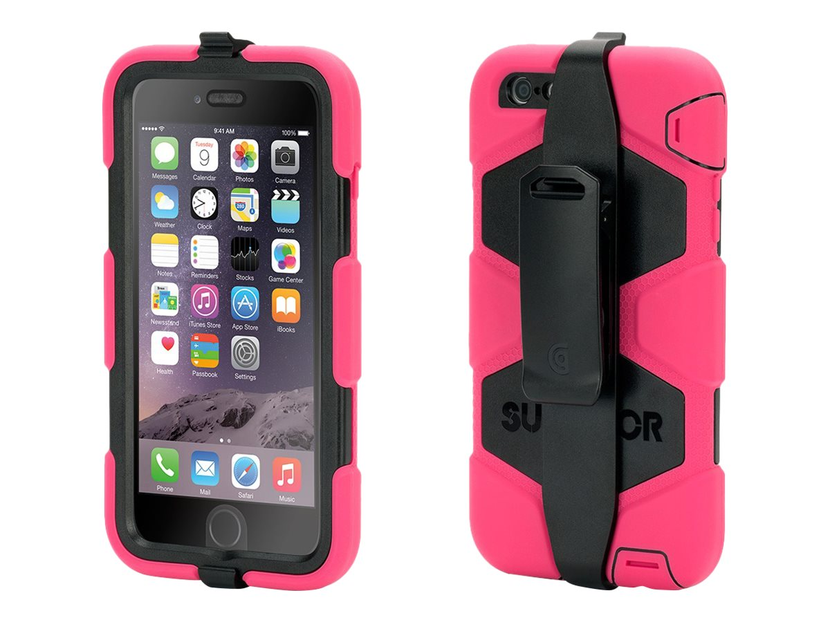 Griffin Survivor All-Terrain for iPhone 6 Plus, Pink Black