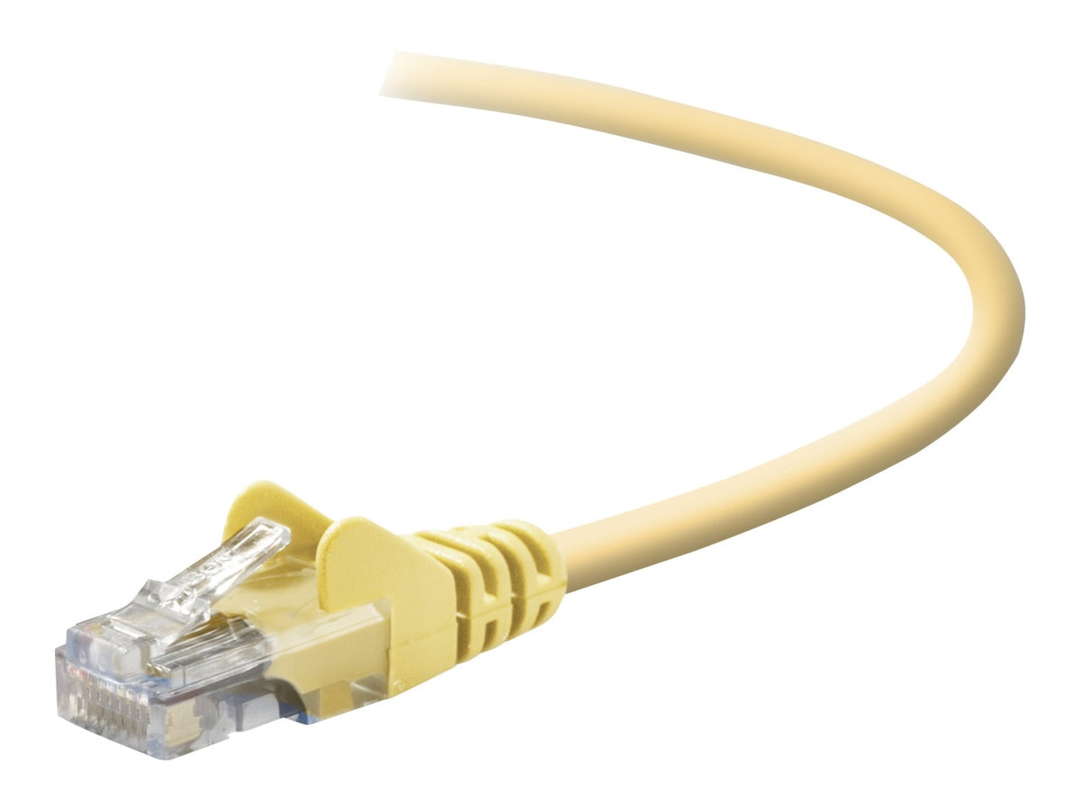 Belkin Cat5e Patch Cable, Yellow, Snagless, 15ft