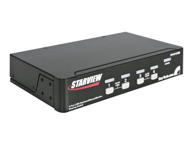 StarTech.com 4-Port StarView USB KVM Switch, SV431USB, 248726, KVM Switches