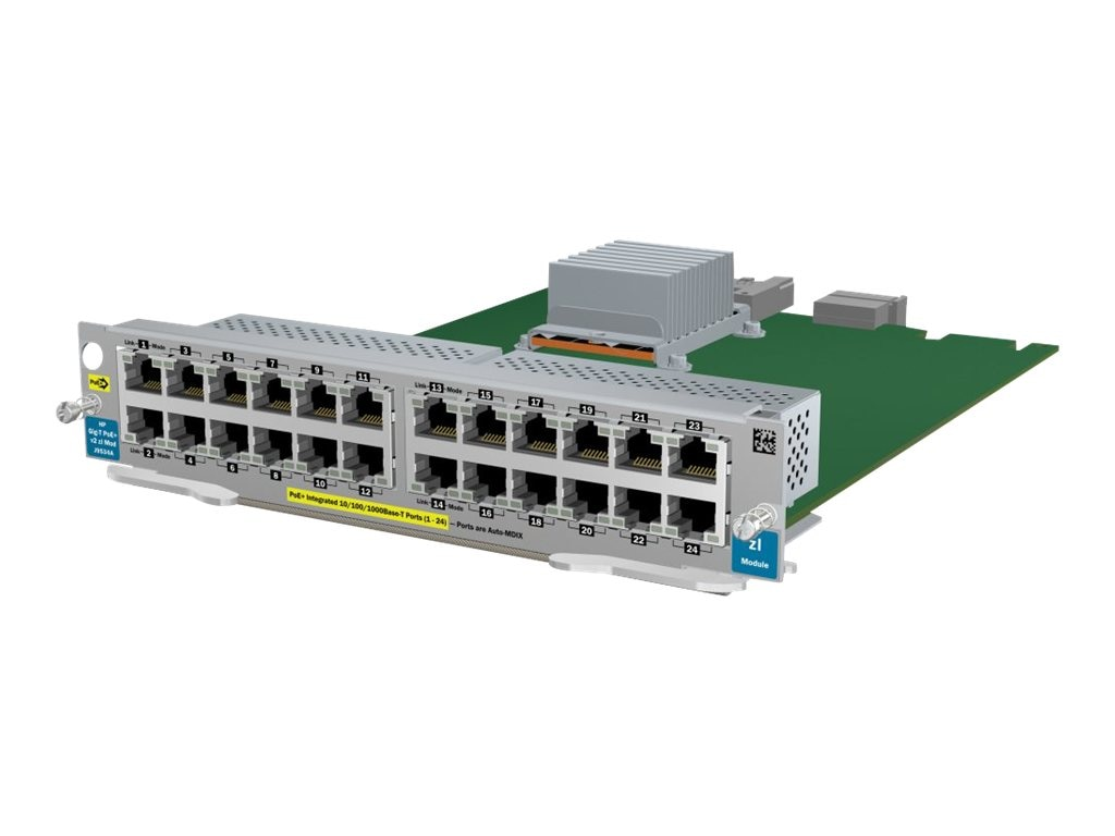 HPE 24Pt. Gig-T PoE+ V2-ZL Module, J9534A, 12229945, Network Device Modules & Accessories