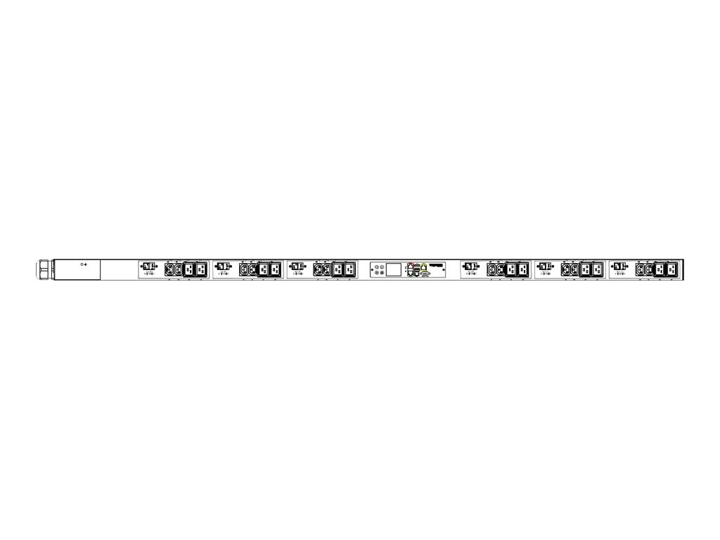 Raritan PDU 208V 40A 3-ph CS8365C Input (12) C13 (12) C19 Outlets, PX3-5547V-V2, 30540999, Power Distribution Units