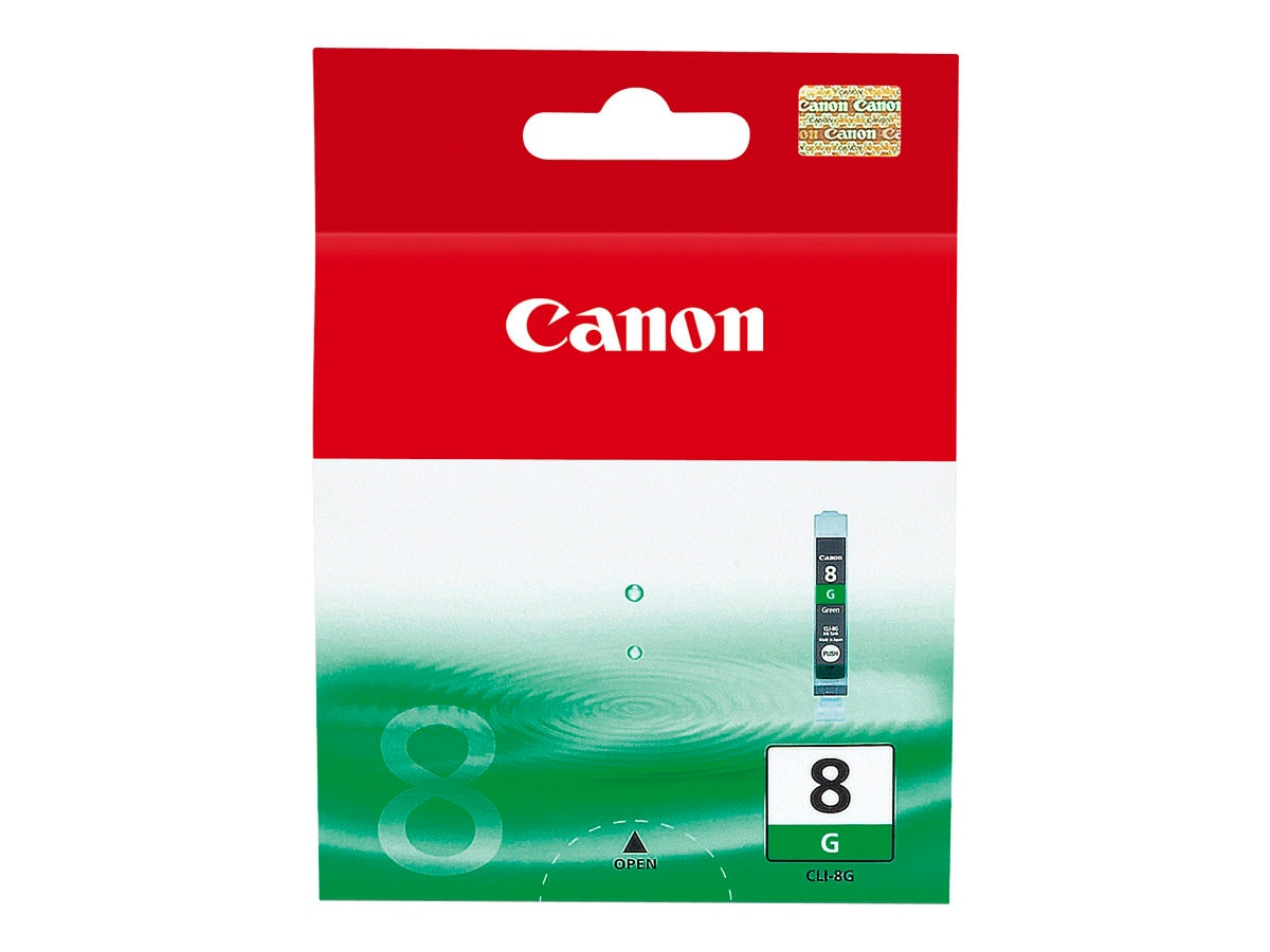 Canon Green CLI-8 Ink Tank for PIXMA iP4200 iP4300, 0627B002, 7339525, Ink Cartridges & Ink Refill Kits