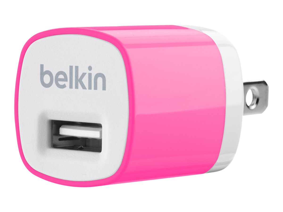 Belkin Mixit Up Home Charger 5 Watt 1 Amp, Pink, F8J017TTPNK, 15756273, Battery Chargers