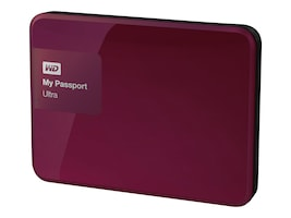 WD 2TB My Passport Ultra Portable Hard Drive - Berry, WDBBKD0020BBY-NESN, 21089104, Hard Drives - External