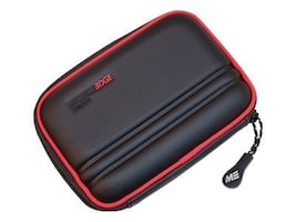 Mobile Edge Portable Hard Drive Case, Black with Red Trim, MEHDC17, 10196182, Carrying Cases - Other