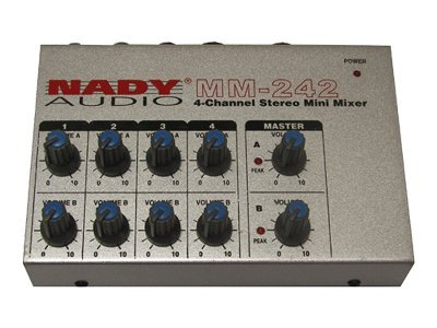 Nady Stereo Four-Channel Mini Mixer, MM-242, 31174329, Stereo Components