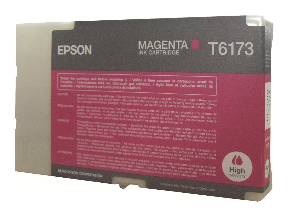 Epson Magenta High Capacity Ink Cartridge for B-500DN Color Business Ink Jet Printer, T617300