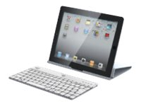 Adesso Compagno X-Aluminum 84-key USB BT Keyboard w  Stand White for Tablets Windows 8