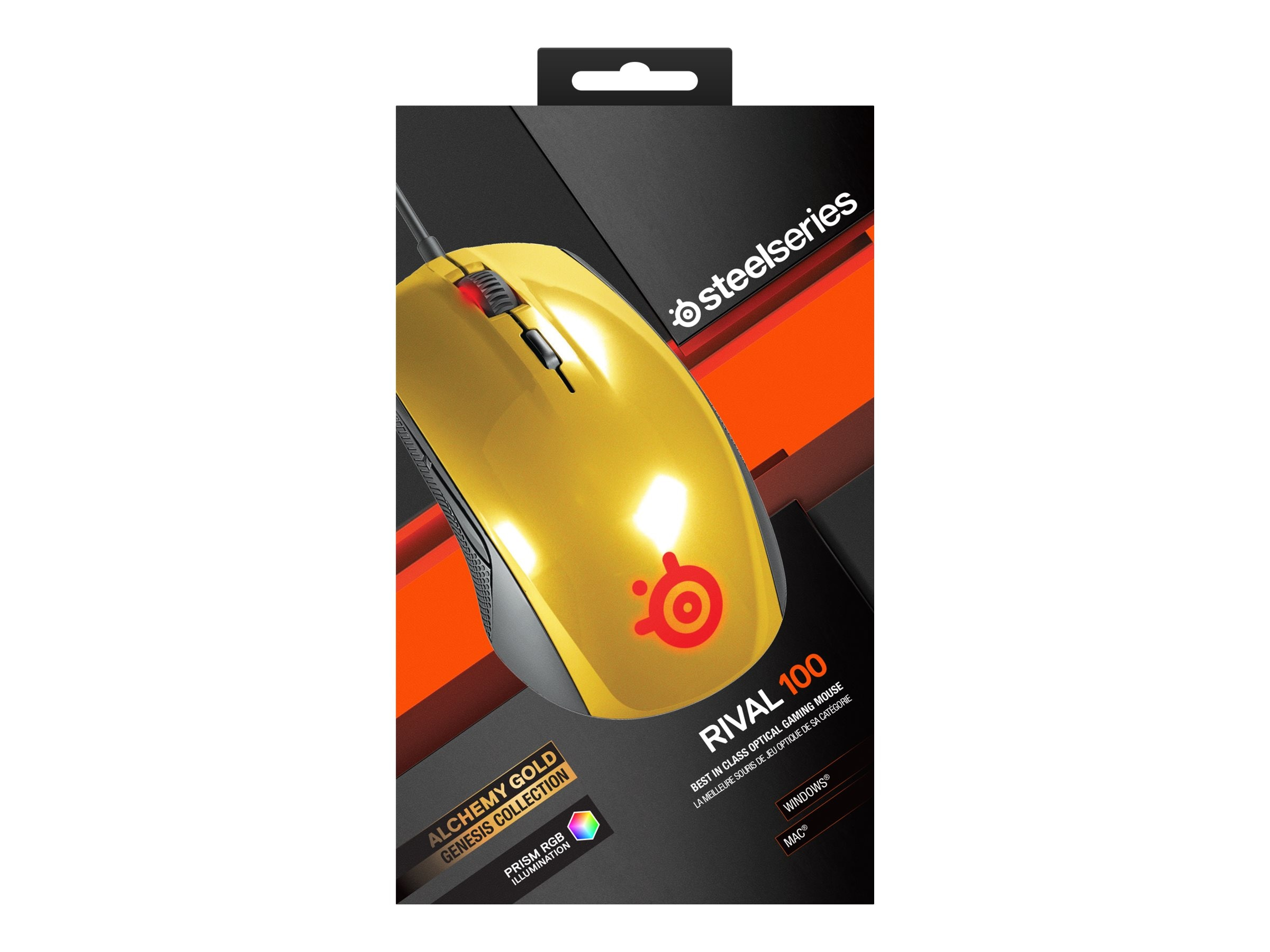 Steelseries Rival 100 Mouse, Alchemy Gold
