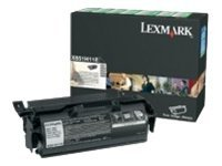 Lexmark Black High Yield Return Program Toner Cartridge for X651, X652, X654, X656 & X658 MFPs, X651H11A, 9164175, Toner and Imaging Components