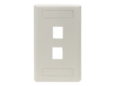 Black Box GigaStation Plus Wallplate, Single-Gang, 2-Port, Office White