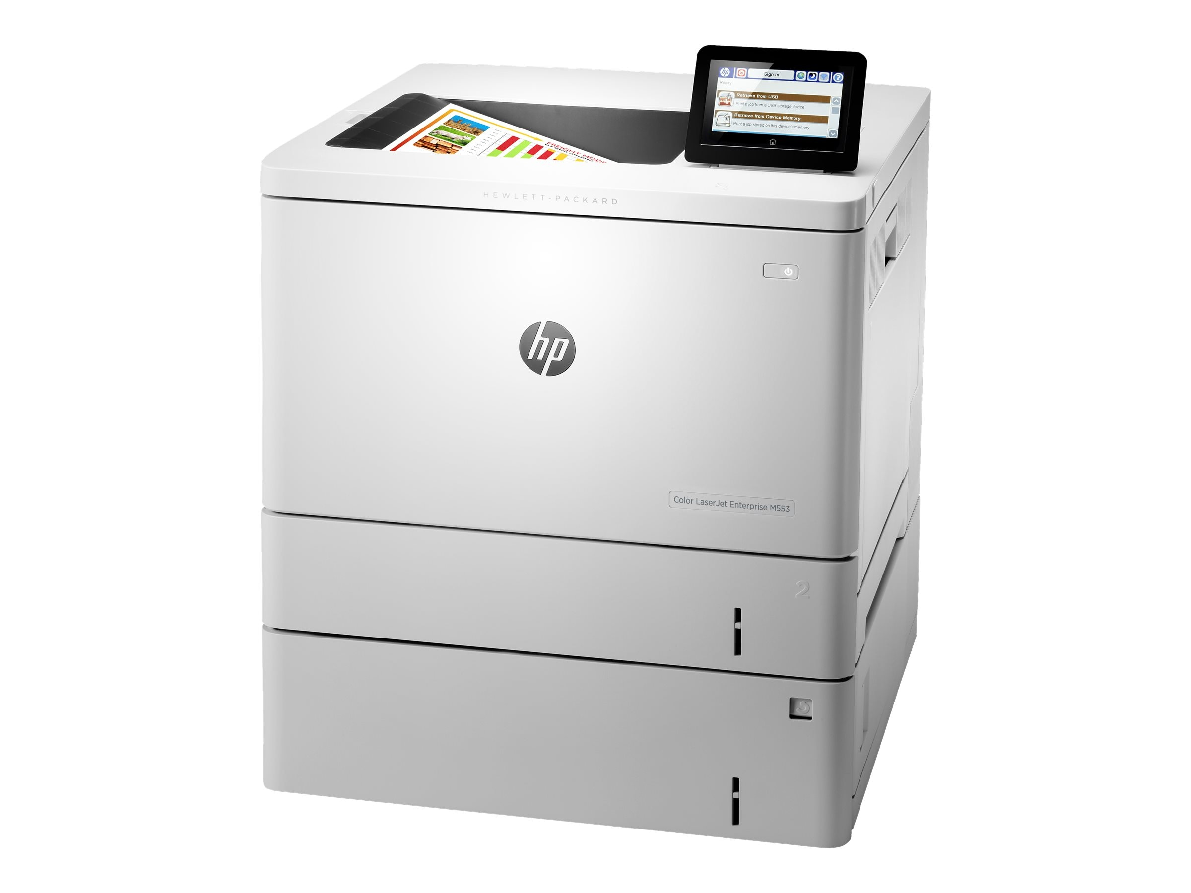HP Color LaserJet Managed M553xm Printer, B5L39A#BGJ, 20982945, Printers - Laser & LED (color)