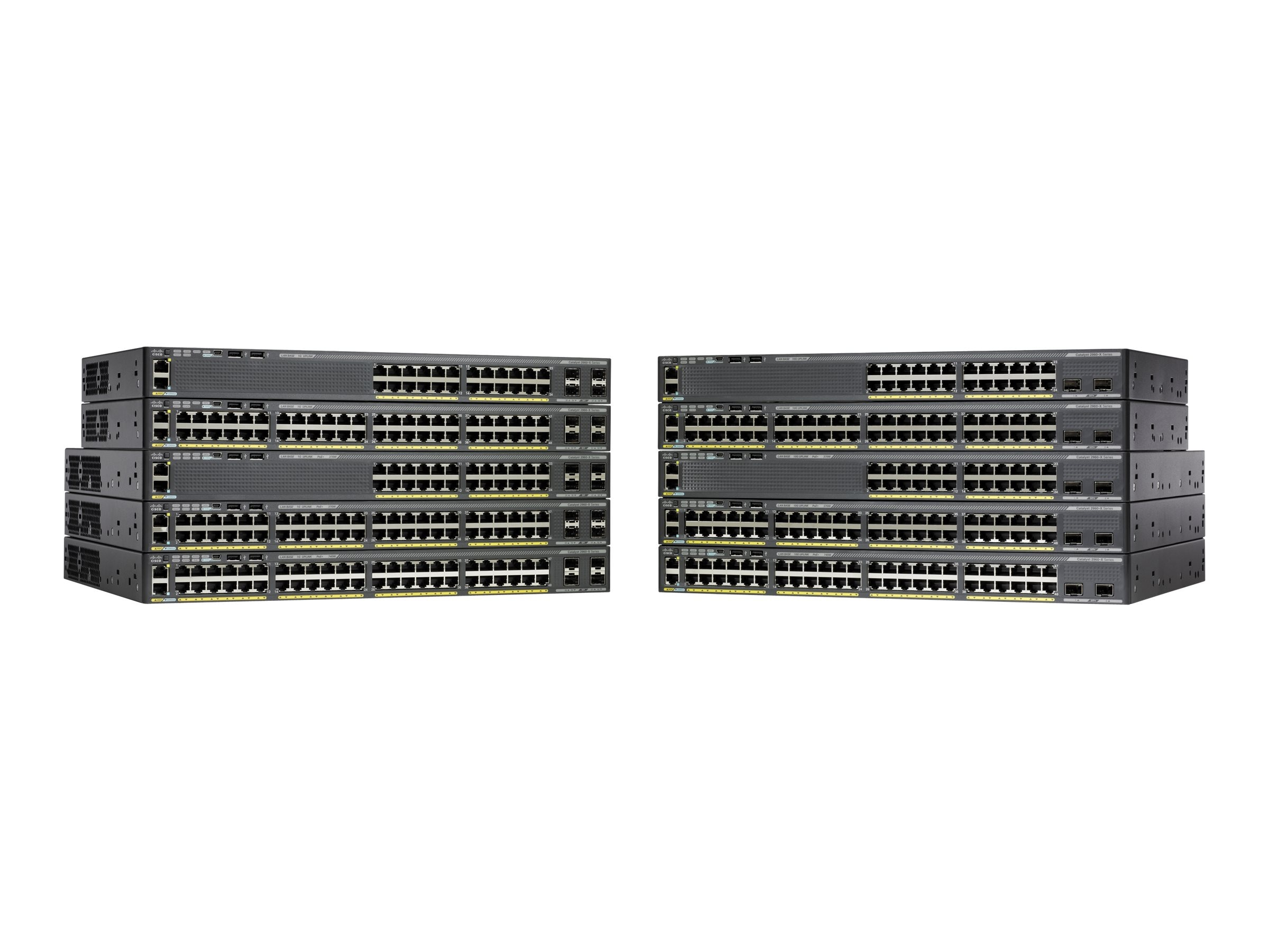 Cisco Catalyst 2960-X 48 GIGE POE 740W 2X SFP, WS-C2960X-48FPD-L, 15954755, Network Switches