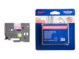 Brother 0.47 x 16.4' TZeMQP35 White on Berry Pink Tape for P-Touch, TZEMQP35, 13197068, Paper, Labels & Other Print Media