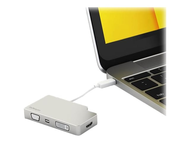 StarTech.com 4-in-1 USB-C to VGA, DVI, HDMI or Mini DisplayPort 4K Adapter, Aluminum, CDPVGDVHDMDP