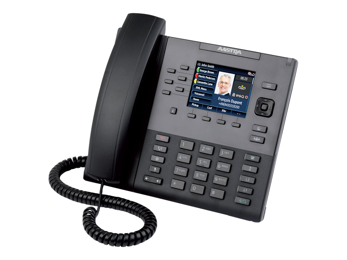 Aastra 6867i SIP PoE Phone with Color Display, 9-line, 80C00002AAA-A, 17336459, VoIP Phones