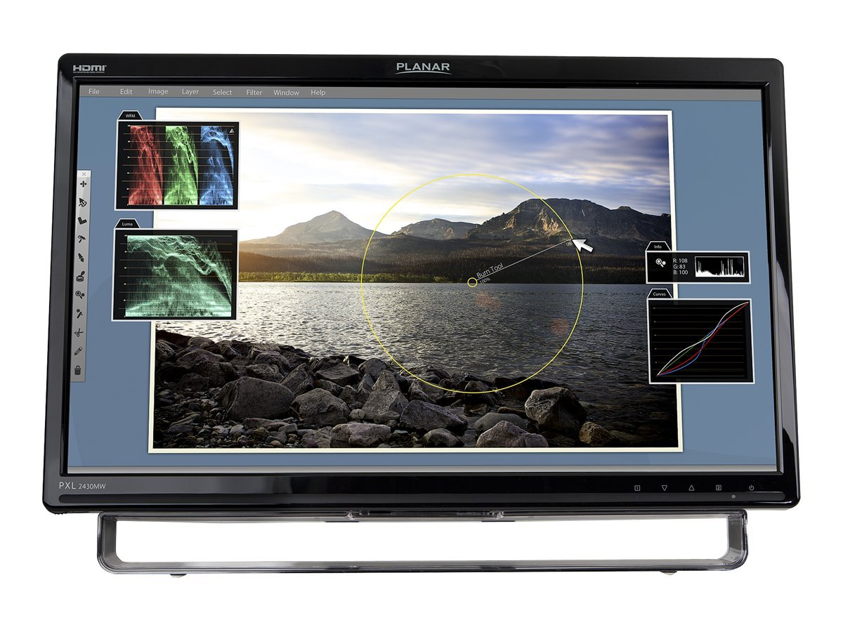 Planar 24 PXL2430MW Multi-Touch LED-LCD Monitor, Black, 997-6399-00, 12900604, Monitors - LED-LCD