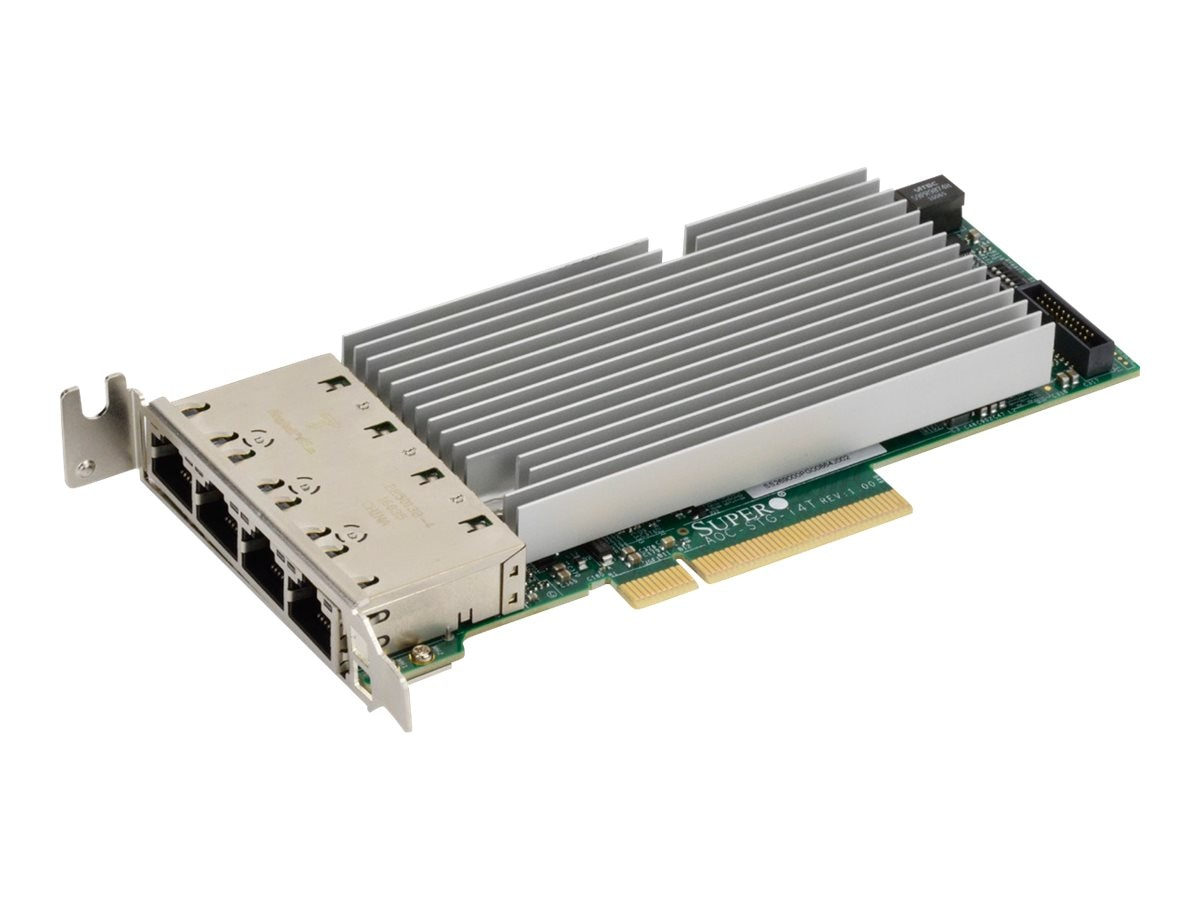 Supermicro STD LP 4-port 10GBase-T Intel XL710 and X557, AOC-STG-I4T-O