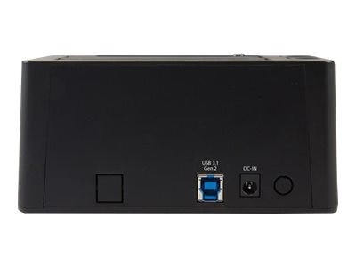 StarTech.com USB 3.1 Gen 2 10Gb s Dual-Bay Dock for 2.5 3.5 SATA Solid State Drives, SDOCK2U313