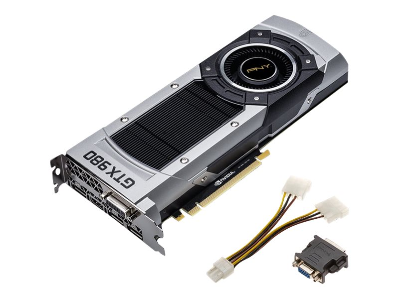 PNY GeForce GTX 980 PCIe 3.0 x16 Graphics Card, 4GB GDDR5, VCGGTX9804XPB-CG, 17827160, Graphics/Video Accelerators