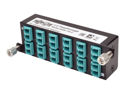 Tripp Lite 10GbE High Density Pass-Through Cassette 12 LC Duplex Connection, N484-12LC