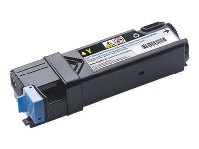 Dell Yellow High Yield Toner Cartridge for 2150cn  2150cdn  2155cn  2155cdn Color Laser Printers