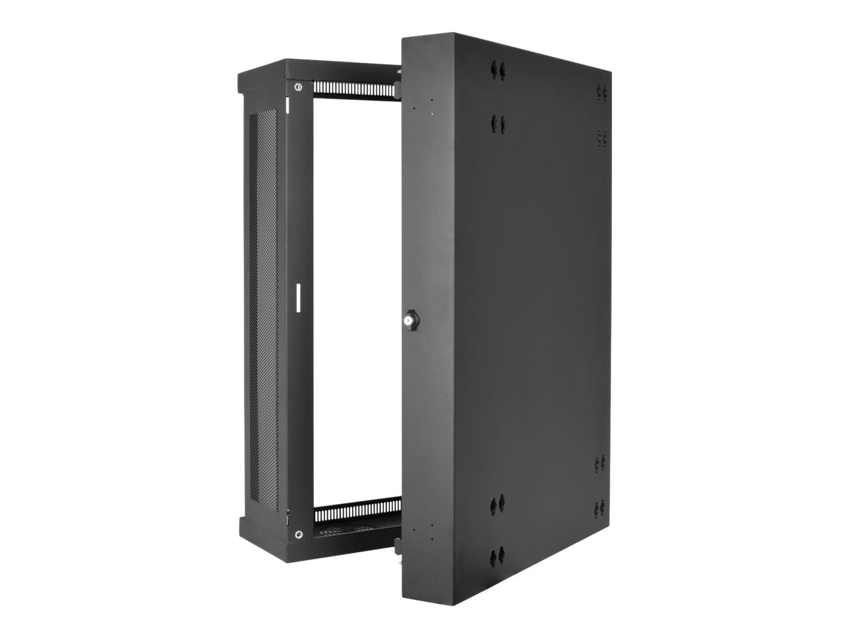 Tripp Lite SmartRack 18U Low-Profile Wall-Mount Rack Enclosure w  Clear Acrylic Window, Hinged Back, SRW18US13G