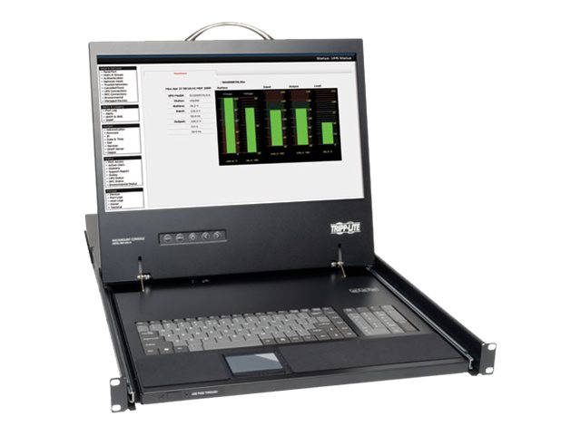 Tripp Lite 1U Rack-Mount Console w  19 LCD, Keyboard, Touchpad, B021-000-17, 6331767, KVM Displays & Accessories